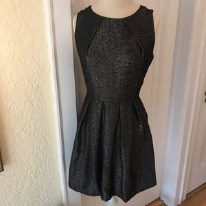 Black and Silver Shimmer Mini Dress